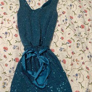 Express sequin sparkle dress XS new